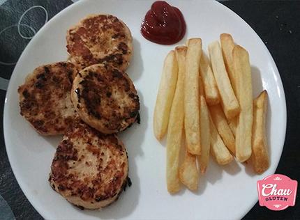 Hamburguesas de pollo sin gluten