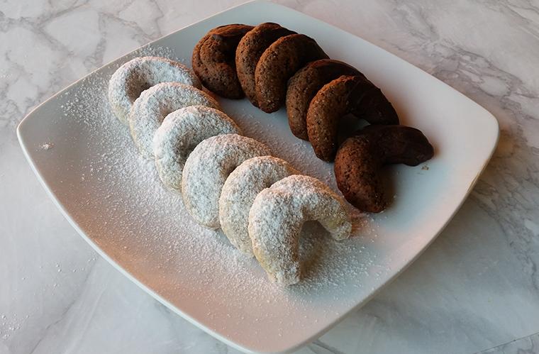 Vanillekipferl: galletas navideñas veganas