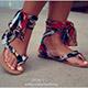 Moderniza tus sandalias usando pañuelos