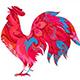 El año del Gallo Rojo de Fuego Yin