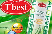 Probá refrescarte con T´best, bebida que contiene aloe con sabor a uva blanca.